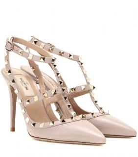 Valentino Rockstud Grained Leather Pumps