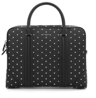 Givenchy Cross-Print Black Leather Suitcase