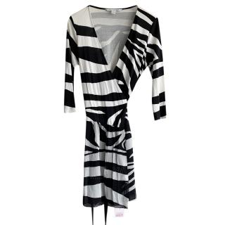 Diane Von Furstenburg Riviera Black & White Wrap Dress