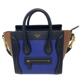 Celine Luggage Nano Leather Colour-Block Bag