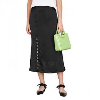 Olivia Rubin Hanna Black Midi Skirt - Current Season