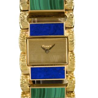 Piaget Vintage Semi Precious Stone & 18k Gold Watch