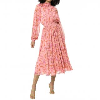 By TiMo Floral-Print Pink Chiffon Dress - Current Season