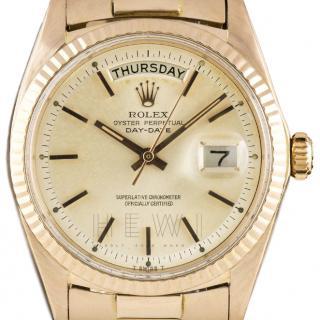 Rolex Day Date Rose-Gold & Silver Watch
