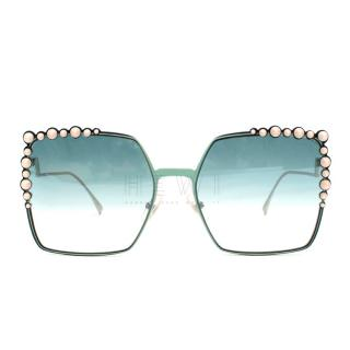 Fendi Aqua Can Eye Sunglasses