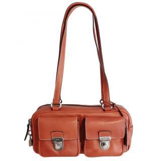 Prada Brown Leather Cargo-Pocket Bag
