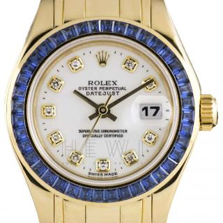 Rolex Datejust Diamond-Dial 18k Yellow-Gold Watch