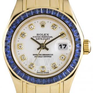 Rolex Datejust Diamond-Dial 18k Yellow-Gold Watch
