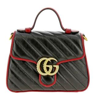 Gucci GG Marmont Mini Quilted Leather Top Handle Bag - Current Season