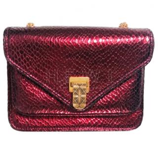 Baraboux Yolanda Snake-Effect Leather Cross-Body Bag