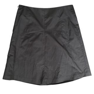 Brunello Cucinelli Taupe  A-line Mini Skirt