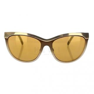 Burberry Gold-Mirrored Cat-Eye Sunglasses