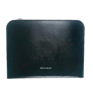Delvaux Magritte Black Leather Pouch
