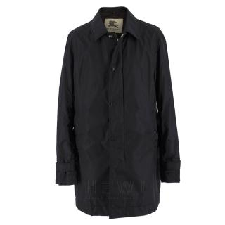 Burberry Black Waterproof Car Coat