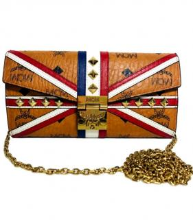 MCM logo leather wallet on a chain