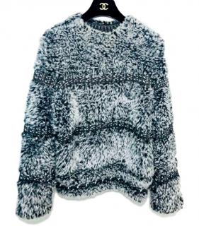 Chanel grey chunky knitted sweater