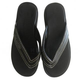 Louis Vuitton Black Leather Sandals