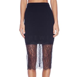Nicholas Black Lace-Overlay Skirt