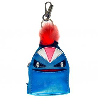 Fendi Bag Bugs Leather Backpack Keyring