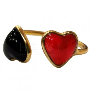 Gripoix Heart Feature Ring