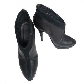 Yves Saint Laurent Black Leather Ankle Boots