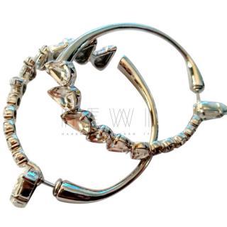 Saint Laurent Crystal-Hoop Earrings