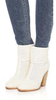 Rag & Bone off white Classic Newbury boots