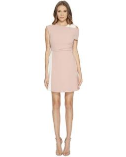 Sportmax pink and white crepe Dalmata dress