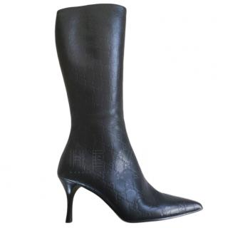 Gucci GG Leather Heeled Boots