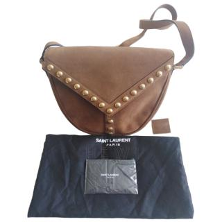 Saint Laurent Y-Stud Cross-Body Bag