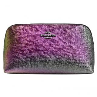 Coach Iridescent Leather Cosmetic Bag