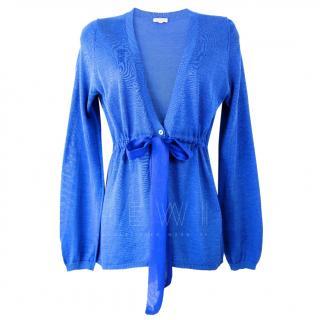 P.A.R.O.S.H Cobalt-Blue Tie-Waist Cardigan