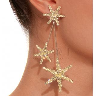 Jennifer Behr Star Crystal Earrings