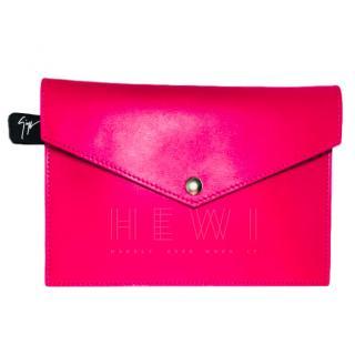 Giuseppe Zanotti Small Pink Leather Pouch