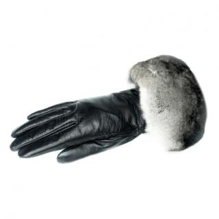 Furby SD Fur-Trimmed Leather Gloves