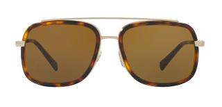 Versace Tortoiseshell Aviator Sunglasses