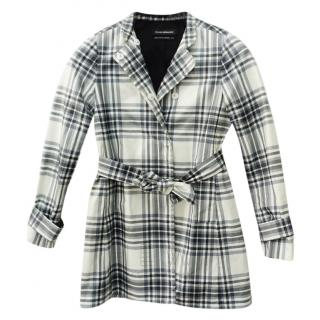 Club Monaco Plaid Checked Jacket