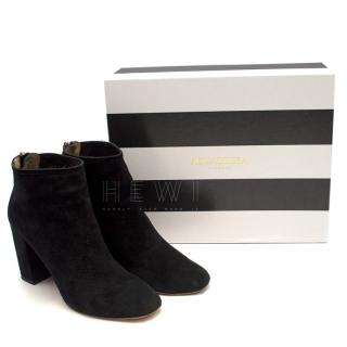 Aquazzura Downtown Black Suede Ankle Boots