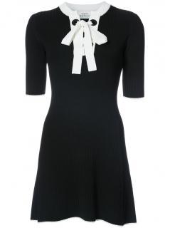 Misha Nonoo Corinna Black Knit Dress