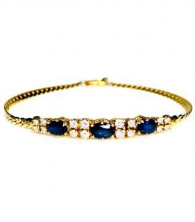 Bespoke Sapphire and diamond set bracelet