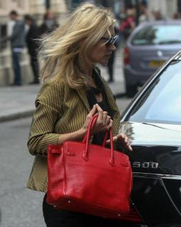Hermes Kelly 35 Red Ardennes Leather Bag