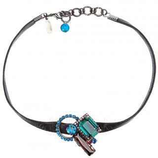 Vicki Sarge Crystal-Embellished Choker