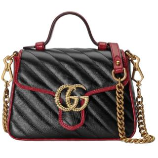 Gucci GG Marmont Mini Top Handle Quilted Leather Bag - Current Season