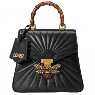 Gucci Queen Margaret Black Quilted Leather Backpack