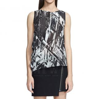 Helmut Lang Meteor-Print Sleeveless Top