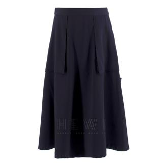 Maison Margiela Navy Exposed-Pocket Skirt