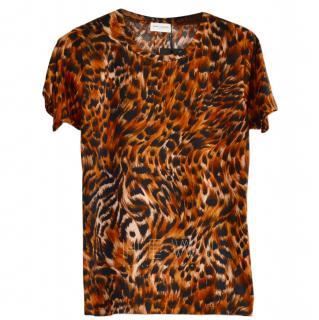 Saint Laurent Leopard-Print T-shirt
