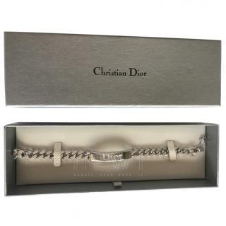 Christian Dior Logo-Engraved Curb Bracelet