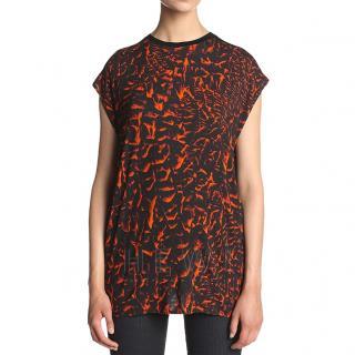 Helmut Lang Strata-Print T-shirt