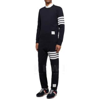 Thome Brown Triple Stripe Sweatshirt - Current Season
